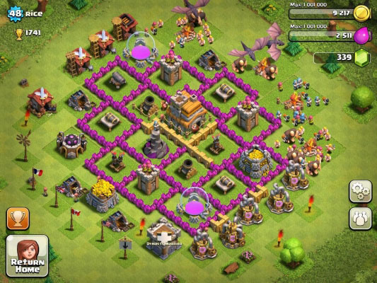 База игрока Clash of clans